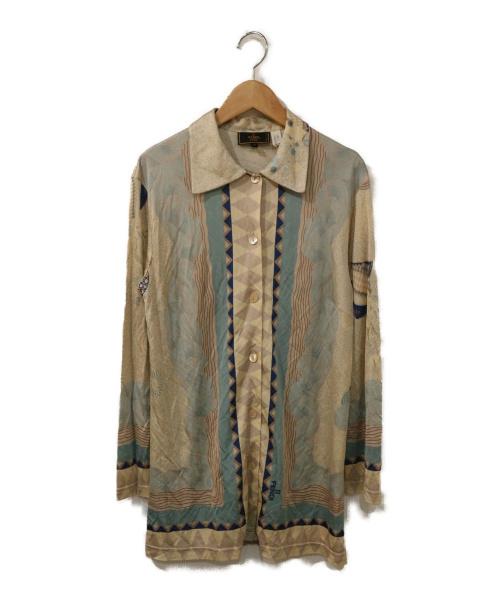 FENDI(フェンディ)FENDI (フェンディ) 総柄レーヨンシャツ ベージュ サイズ:38の古着・服飾アイテム