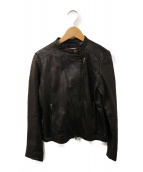 JOURNAL STANDARD relume(ジャーナルスタンダード レリューム)の古着「レザーライダースジャケット」 ブラック