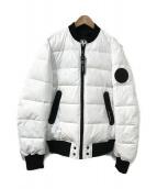 ()の古着「quilted bomber jacket」 ホワイト×ブラック