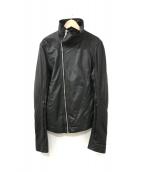 ()の古着「シングルレザージャケット」 ブラック