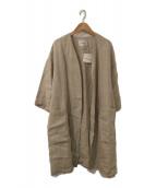 TABASA(タバサ)の古着「リネンガウンコート」|ベージュ