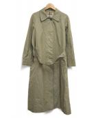 Burberrys(バーバリーズ)の古着「ヴィンテージステンカラーコート」|カーキ