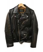 Schott × WACKO MARIA(ショット×ワコマリア)の古着「ホースハイドライダースジャケット」|ブラック