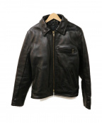 VANSON(バンソン)の古着「シングルライダースジャケット」 ブラック