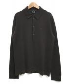 GUCCI(グッチ)の古着「ニットL/Sポロシャツ」 ブラウン