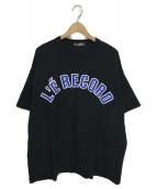 ()の古着「LE RECORD TEE」 ブラック