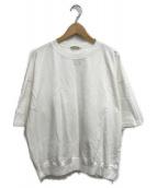 AURALEE(オーラリー)の古着「SUPER HIGH GAUGE SWEAT BIG TEE」|ホワイト