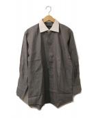 ()の古着「クレリックシャツ」 グレー×ホワイト