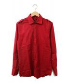 ()の古着「エポレットシャツ」 レッド