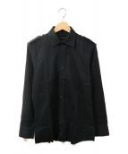()の古着「エポレットシャツ」|ブラック
