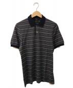 GUCCI(グッチ)の古着「ボーダーポロシャツ」|ネイビー×ホワイト