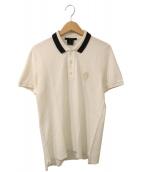 GUCCI(グッチ)の古着「ポロシャツ」 ホワイト×ブラック