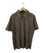 GUCCI(グッチ)の古着「ニットポロシャツ」|ブラウン