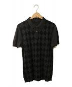 GUCCI(グッチ)の古着「GGポロシャツ」|グレー×ブラック