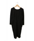 CELFORD(セルフォード)の古着「タックワンピース」|ブラック