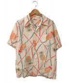 Sun Surf(サンサーフ)の古着「アロハシャツ」|ホワイト×ピンク