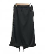 ROBE DE CHAMBRE COMME DES GARC(ローブドシャンブル コムデギャルソン)の古着「サイドラインスカート」 ブラック
