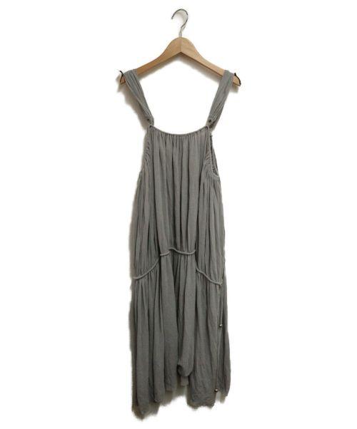 LIMI feu(リミフゥ)LIMI feu (リミフゥ) ギャザーキャミソールワンピース グレー サイズ:Sの古着・服飾アイテム