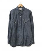BONCOURA(ボンクラ)の古着「デニムウエスタンシャツ」|インディゴ