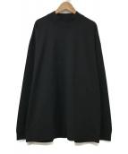 ()の古着「SUVIN AIR SPINNING MOCK-NECK P」|ブラック