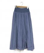BEARDSLEY(ビアズリー)の古着「ウエストジャージーギャザースカート」 ブルー