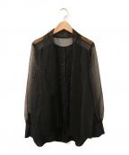 AEWEN MATOPH(イウエン マトフ)の古着「オーガンジーブラウス」 ブラック