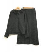 ISSEY MIYAKE(イッセイミヤケ)の古着「ジャガードセットアップ」|ブラック×グリーン