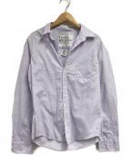 Frank&Eileen(フランクアンドアイリーン)の古着「オープンカラーシャツ」 パープル