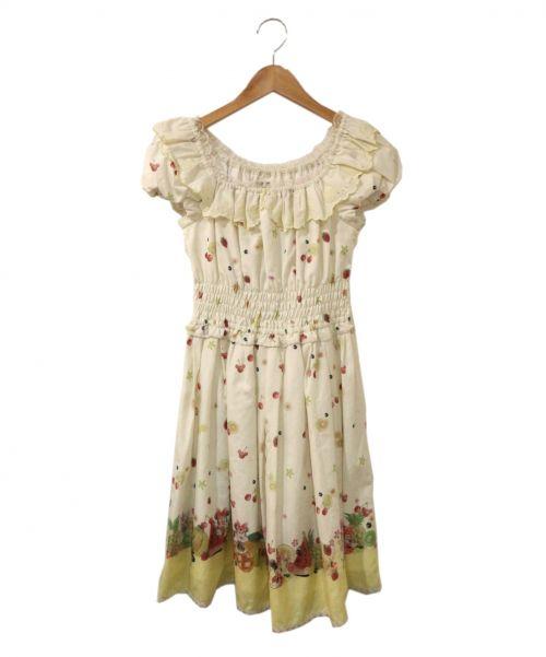 SECRET HONEY(シークレットハニー)SECRET HONEY (シークレットハニー) ワンピース ホワイト サイズ:2の古着・服飾アイテム