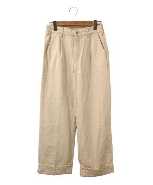 LEE(リー)LEE (リー) ワイドトラウザーパンツ アイボリー サイズ:M 未使用品の古着・服飾アイテム