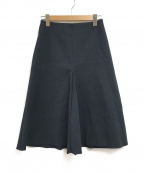 saqui(サキ)の古着「裾フレアスカート」 ネイビー