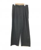 MANDO(マンドー)の古着「タックワイドパンツ」|ブラック
