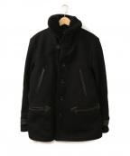COOTIE(クーティー)の古着「リアルムートンカーコート」|ブラック