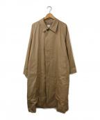 CIOTA(シオタ)の古着「スビンコットンギャバジンバルマカンコート」|ベージュ