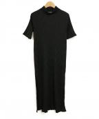 TARO HORIUCHI(タロウホリウチ)の古着「サイドスリットロングトップス」 ブラック