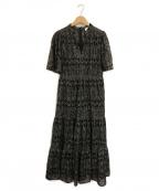 Kate Spade()の古着「Metallic Embroidered Midi Dres」|ブラック