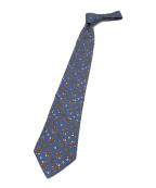 HERMES(エルメス)の古着「タートル柄シルクネクタイ」 ブルー