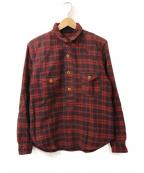 freewheelers(フリーホイーラーズ)の古着「プルオーバーチェックシャツ」 レッド