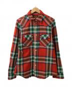IRON HEART(アイアンハート)の古着「ネルシャツ」 レッド