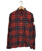 F.C.R.B.(エフシーアールビー)の古着「チェックネルシャツ」|レッド