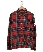 F.C.R.B.()の古着「チェックネルシャツ」 レッド