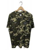 F.C.R.B.×NIKE(エフシーリアルブリストル×ナイキ)の古着「Tシャツ」 オリーブ