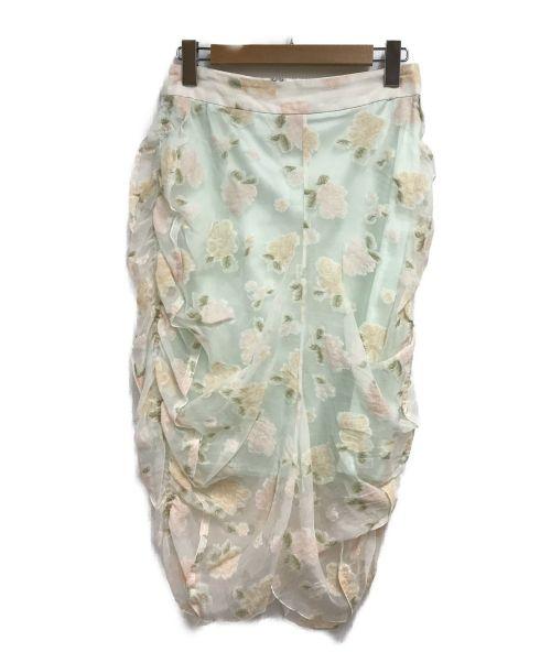 08sircus(08サーカス)08sircus (サーカス) フラワーカットジャガードスカート ホワイト サイズ:SIZE1の古着・服飾アイテム