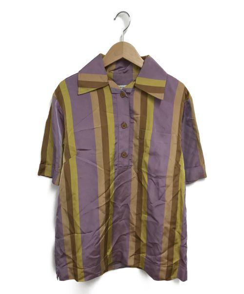 DRIES VAN NOTEN(ドリスヴァンノッテン)DRIES VAN NOTEN (ドリスヴァンノッテン) 半袖シャツ パープル サイズ:34の古着・服飾アイテム