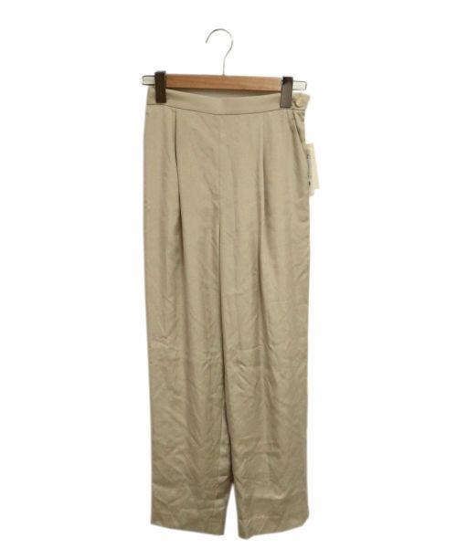 NOLLEYS sophi(ノーリーズソフィー)NOLLEYS sophi (ノーリーズソフィー) キュプラツイルタックパンツ アイボリー サイズ:36 未使用品の古着・服飾アイテム