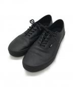 VANS()の古着「Authentic Decon Premium Leathe」 ブラック
