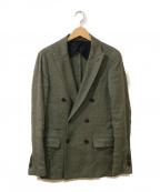 eleventy(イレブンティ)の古着「リネン混テーラードジャケット」 オリーブ