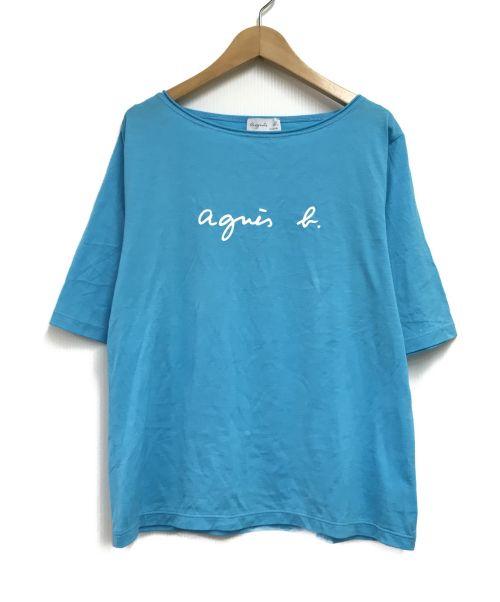 agnes b(アニエスベー)agnes b (アニエスベー) ロゴカットソー ブルー サイズ:SIZE2の古着・服飾アイテム