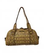 MIU MIU()の古着「クロコダイル調ハンドバッグ」|ベージュ