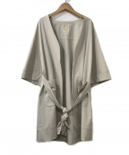 khaju(カージュ)の古着「ノーカラーベルテッドコート」|アイボリー